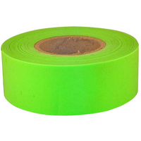 FLAGGING TAPE FLO LIME GREEN