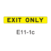 EXIT ONLY E11-1c