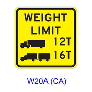Weight Limit [symbol] W20A(CA)