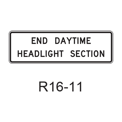 END DAYTIME HEADLIGHT SECTION R16-11