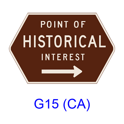 POINT OF HISTORICAL INTEREST G15(CA)