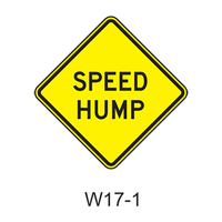 SPEED HUMP (BUMP) W17-1