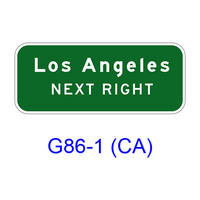 Supplemental Destination (NEXT RIGHT (LEFT)) G86-1(CA)