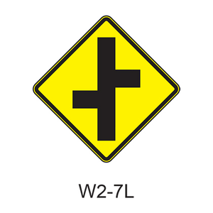 Intersection Warning W2-7L