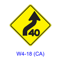 Combination Reverse Curve/Advisory Speed W4-18(CA)