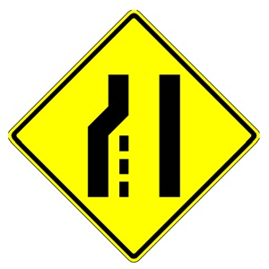 LEFT LANE ENDS 36