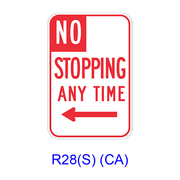 NO STOPPING ANY TIME w/ arrow R28(S)(CA)