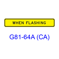 WHEN FLASHING G81-64A (CA)
