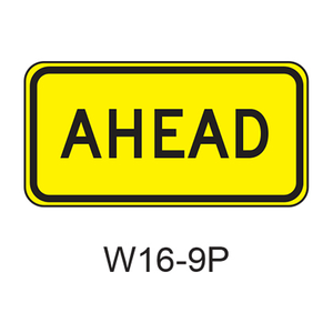 AHEAD [plaque] W16-9P