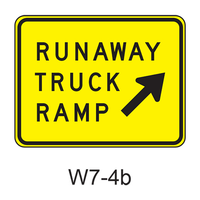 RUNAWAY TRUCK RAMP (w/ arrow) W7-4b