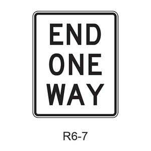 END ONE WAY R6-7