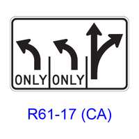 Intersection Lane Control R61-17(CA)