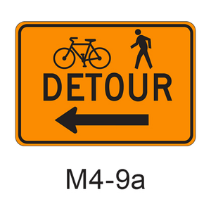 DETOUR w/ arrow [symbol] M4-9a