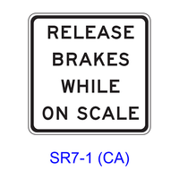 RELEASE BRAKES WHILE ON SCALE SR7-1(CA)
