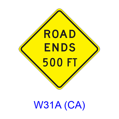 ROAD ENDS -------- FT W31A(CA)