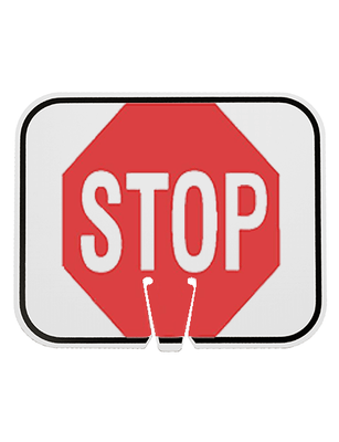 STOP CONE SIGN REFLECTIVE