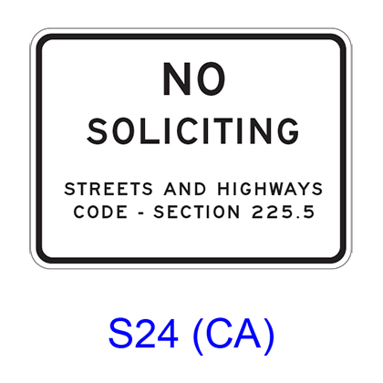 NO SOLICITING S24(CA)