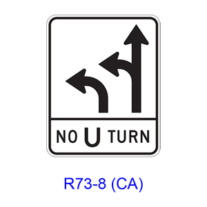 Intersection Lane Control R73-8(CA)