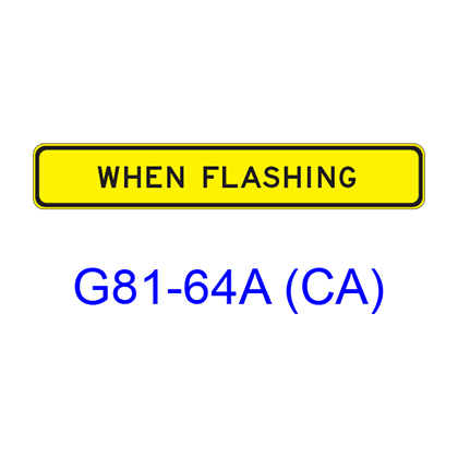 WHEN FLASHING G81-64ACA