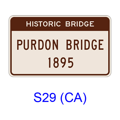 Historic Bridge - 2 Lines S29(CA)