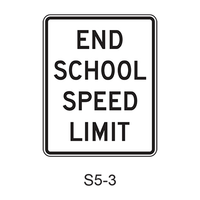 END SCHOOL SPEED LIMIT S5-3