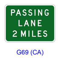 PASSING LANE XX MILES G69(CA)