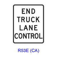 END TRUCK LANE CONTROL R53E(CA)