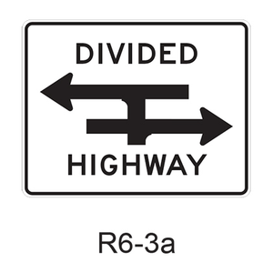 Divided Highway Crossing [t-bone approach] R6-3a
