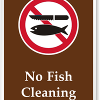 No Fish Cleaning [symbol] PS-093(CA)