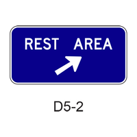 REST AREA w/ arrow D5-2