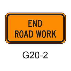 END ROAD WORK G20-2