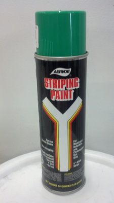 STRIPING PAINT SPRAY GREEN