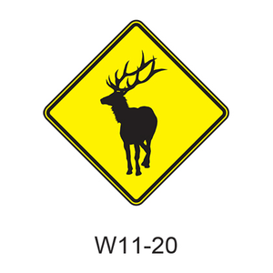 Large Animal - Elk [symbol] W11-20