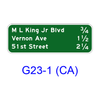 Interchange Sequence G23-1(CA)