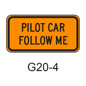 PILOT CAR FOLLOW ME G20-4