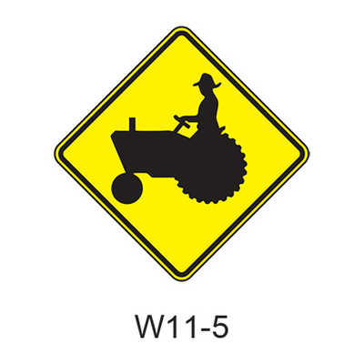 Vehicular Traffic Warning [symbol] W11-5