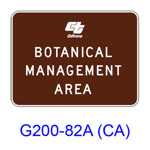 BOTANICAL MANAGEMENT AREA G200-82A(CA)