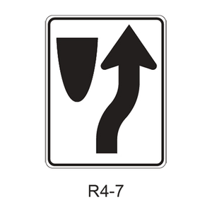 Keep Right [symbol] R4-7