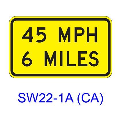 Speed/Distance Plaque SW22-1A(CA)