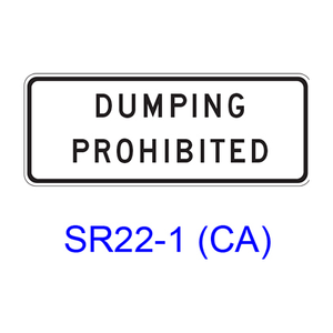 DUMPING PROHIBITED SR22-1(CA)