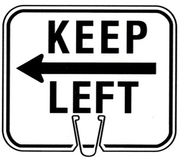 CONE SIGN KEEP LEFT