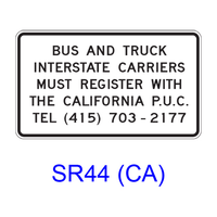 Bus and Truck Registration SR44(CA)