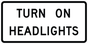 TURN ON HEADLIGHTS R16-8