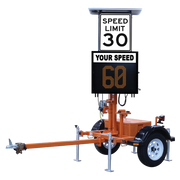 VER-MAC SP-3248V TRAILER-MOUNTED SPEED DISPLAY SIGN