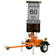 VER-MAC SP-710V TRAILER-MOUNTED SPEED DISPLAY SIGN