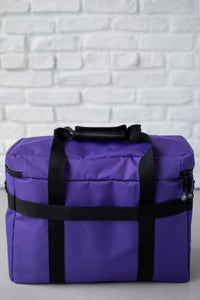 Wheeled Sewing Machine Carrier / Project Bag / Notions Bag Combo - Purple
