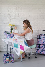 "Load image into Gallery viewer, NEW! ""Quilter Retreat"" Combo Wheeled Sewing Machine Carrier / Project Bag / Fat Quarter Bag Combo - Maisy"