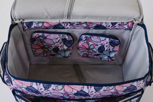 "NEW! ""Quilter Essential"" Combo Wheeled Sewing Machine Carrier / Project Bag / Satchel Bag Combo - Maisy"