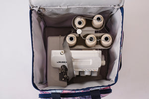 "NEW! ""Sewist Essentials"" Wheeled Serger Bag (Medium) / Wrist Bag / Zipper Bag Combo - Maisy"
