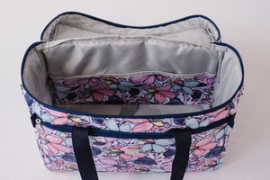 "NEW! ""Quilter Retreat"" Combo Wheeled Sewing Machine Carrier / Project Bag / Fat Quarter Bag Combo - Maisy"